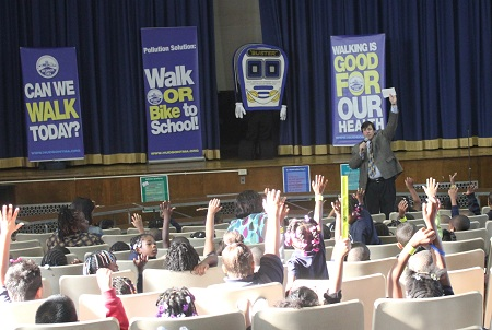 Walk or bike to school in Hudson County