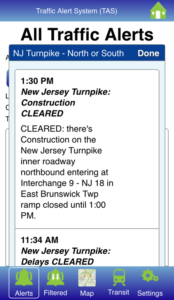 Traffic Alerts - New Jersey Hudson Transit Management