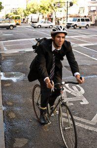 bike commuter in Hudson County, NJ