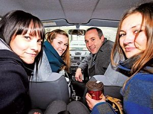 carpool four people looking-back-small
