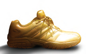 the golden sneaker