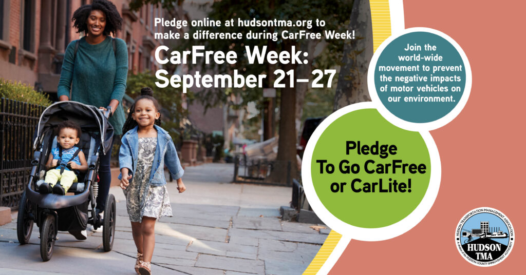 CarFree Week in Hudson County, New Jersey September 21 – 27, 2020